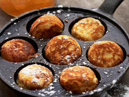 How to make Danish Aebleskiver or apple dumplings