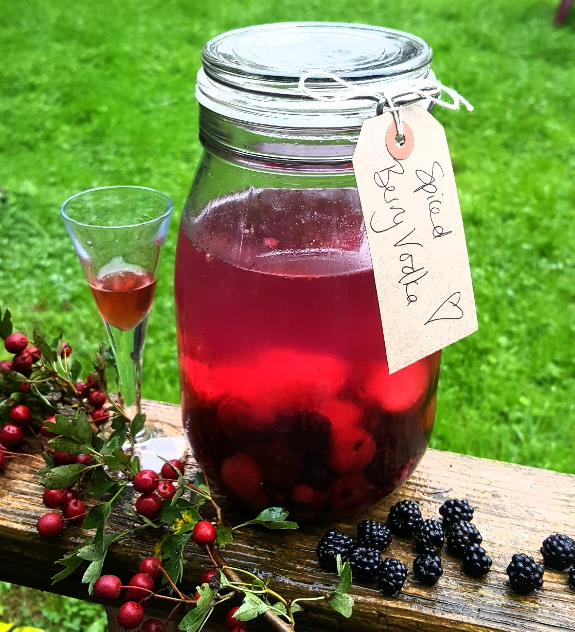 How To Make Sloe Gin >> Easy Sloe Gin Winter Berry Vodka Recipe Hyggestyle