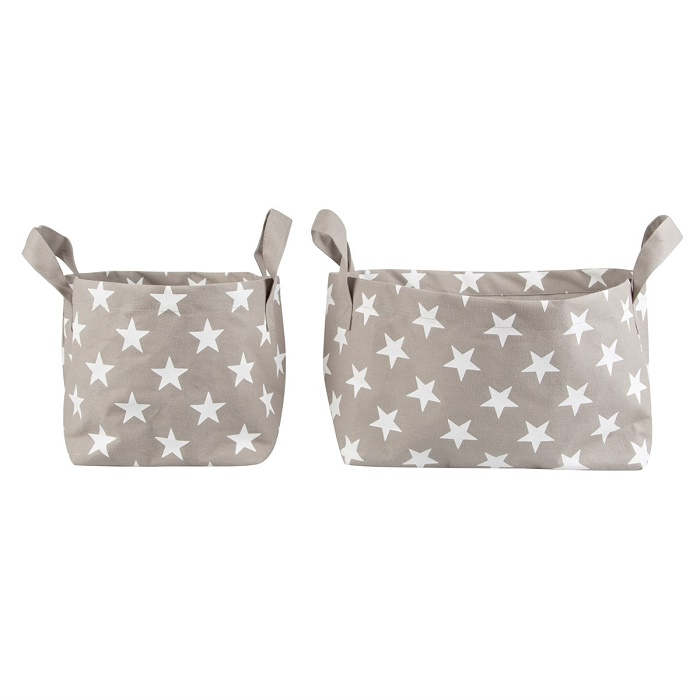 Nordic star set of two square cotton storage baskets - Scandinavian boutique - hyggestyle.co.uk  sc 1 st  hygge u2013 hyggestyle & Nordic star set of two square cotton storage baskets - Scandinavian ...