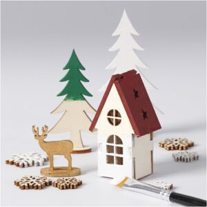 Wooden Christmas crafts and baking