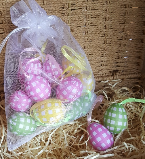 Gingham pastel easter egg tree decorations by gisela graham gingham pastel easter egg tree decorations by gisela graham scandinavian boutique hyggestyle negle Images