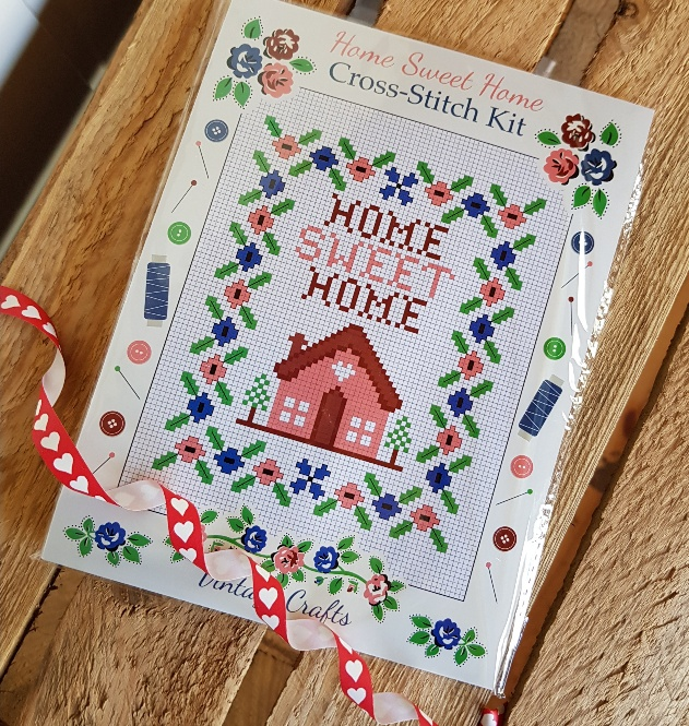 home sweet home crossstitch sampler kit scandinavian