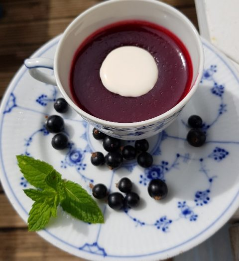 Danish Rødgrød Med Fløde - red berry pudding with cream