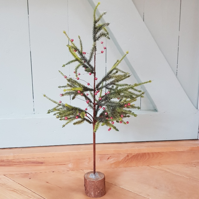 Faux fir Christmas table top tree with red berries by Gisela Graham -  Scandinavian boutique - hyggestyle.co.uk - Faux Fir Christmas Table Top Tree With Red Berries By Gisela Graham