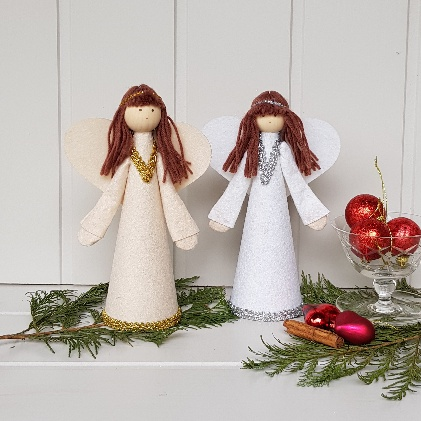 White And Silver Gold Nordic Angel Fairy Tree Topper By Gisela