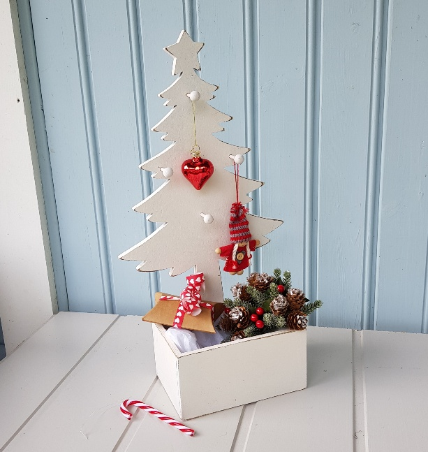 Rustic White Wooden Christmas Display Tree