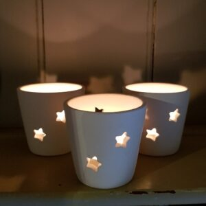 Christmas lights, candles and lanterns