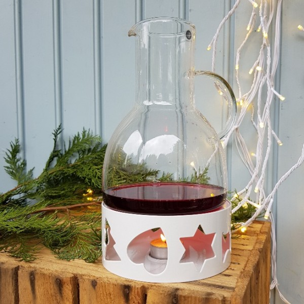 sagaform mulled wine warmer carafe tealight glogg