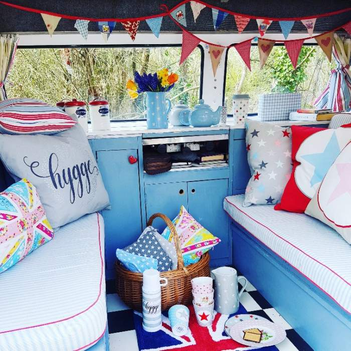 vintage vw campervan retro hygge interior