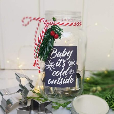 baby it's cold outside gisela graham cookie cutter christmas gift jar