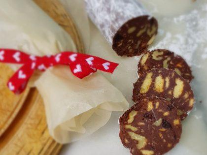 Edible Christmas gifts – chocolate salami recipe