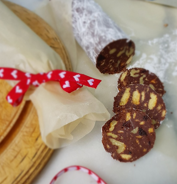 chocolate salami edible xmas gift