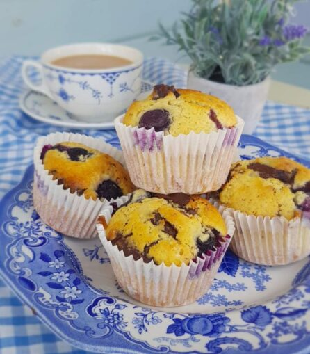 blueberry and almond muffin recipe